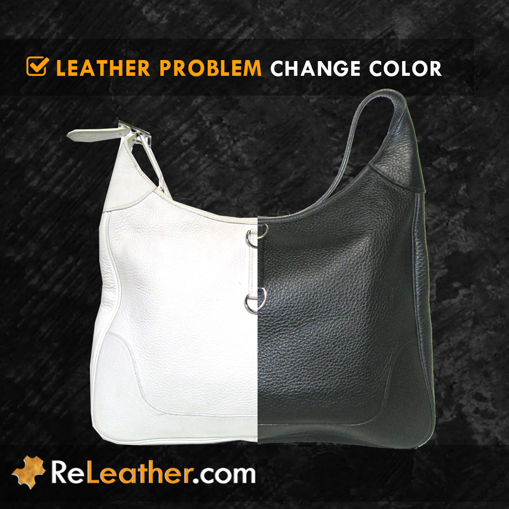 Change Color Dye Leather Handbag Purse