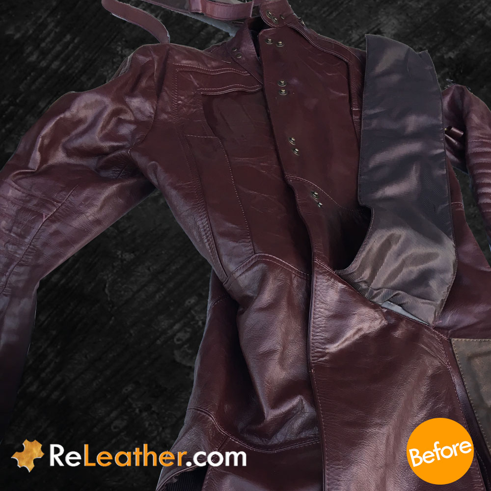 Custom Leather Dyeing / Recolor Costume - Before