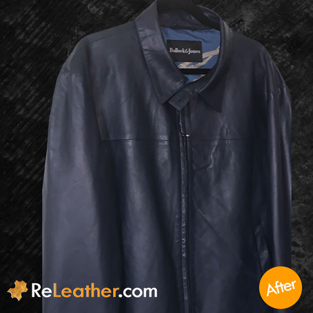 Leather Redyeing / Recoloring for Designer Leather Coat - After