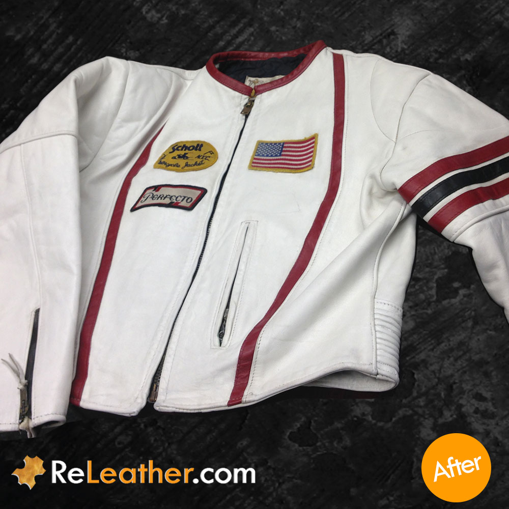 Leather Refurbishing Motorcycle Jacket - After