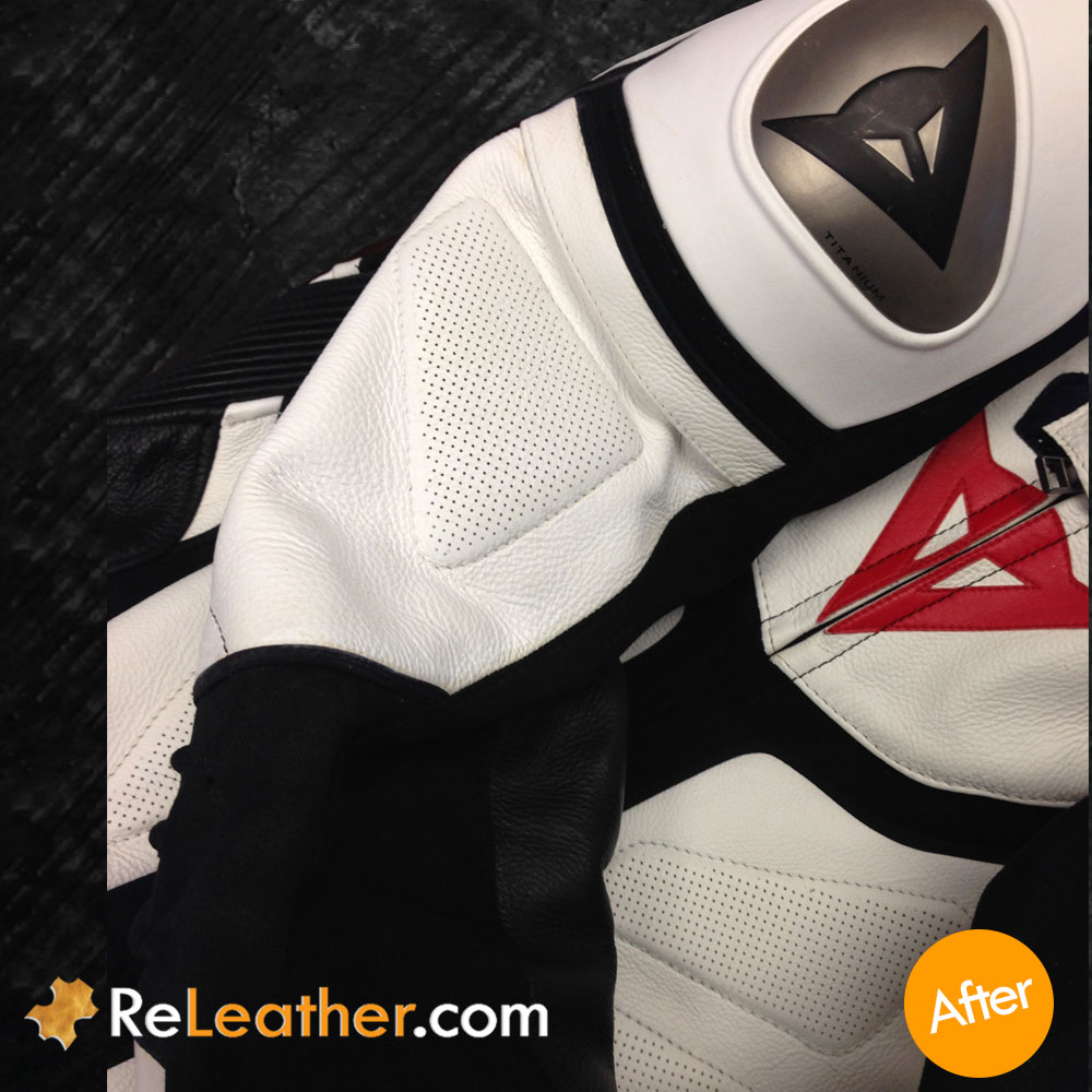 Leather Recoloring Leather Motorcycle Suit - After