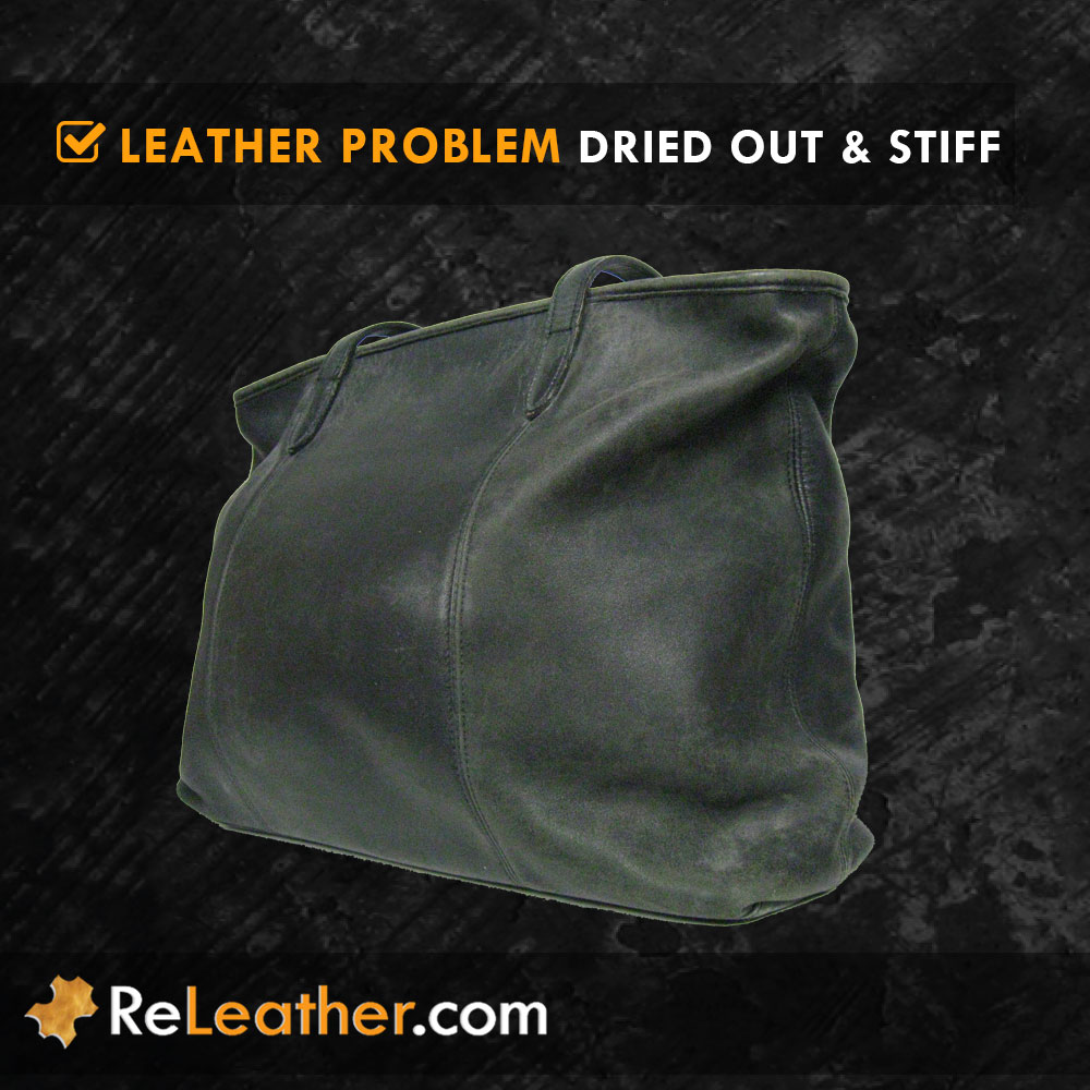 Dried Out Stiff Leather Handbag Purse