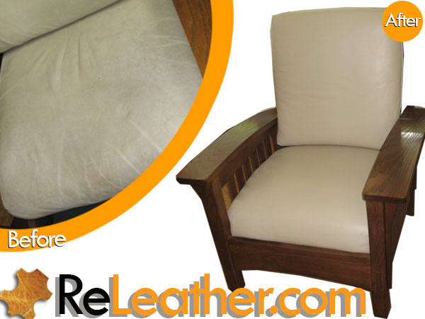 Leather Restoration or Straight Back Bow Arm Morris Recliner Irvine CA