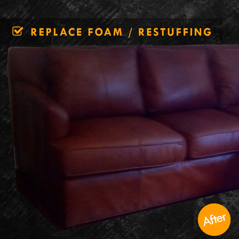Restuffing Leather Couch Cushions And Foam Replacement