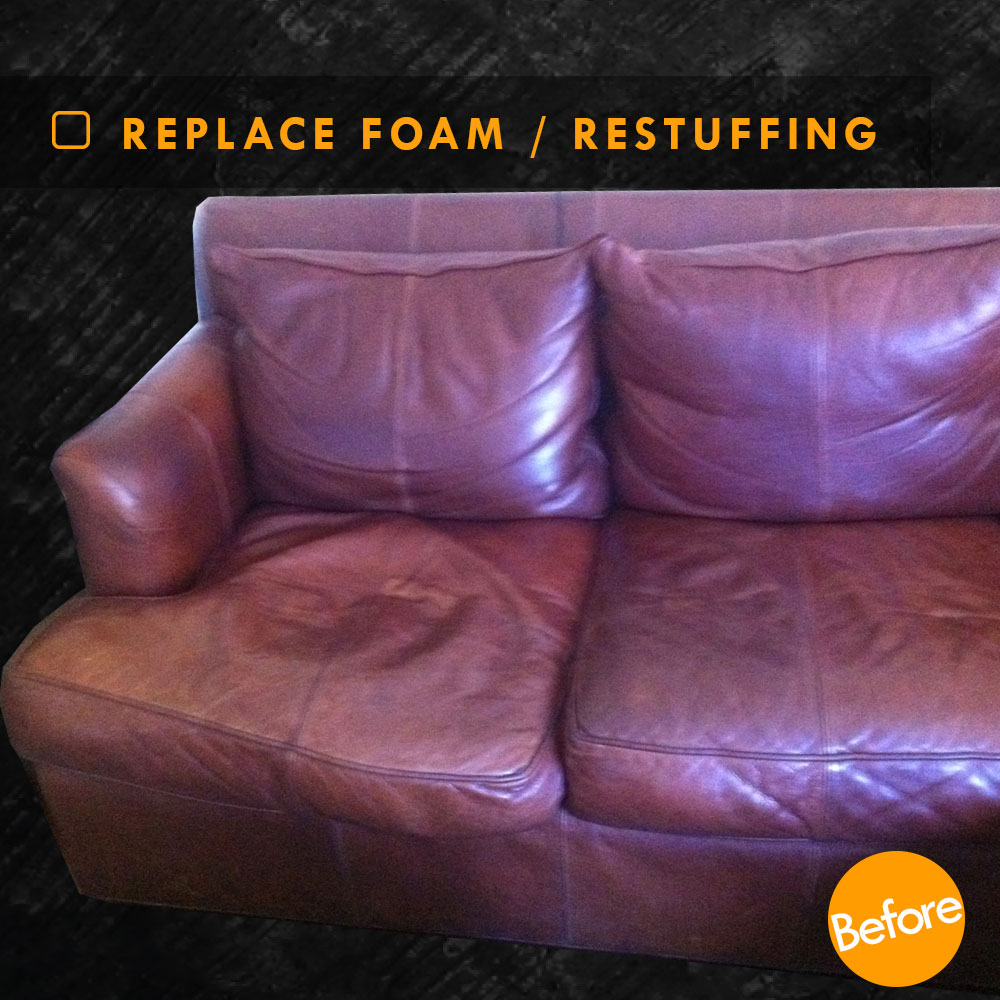 Leather Sofa Restuffing: Restuffing Leather Couch Cushions And Foam Replacement