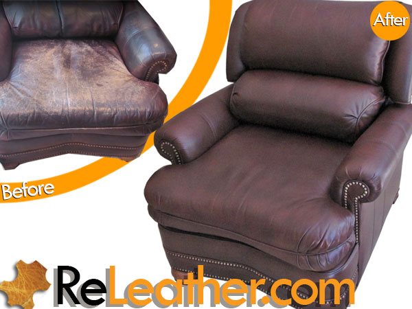 Leather Recliner Chair Dyeing Service