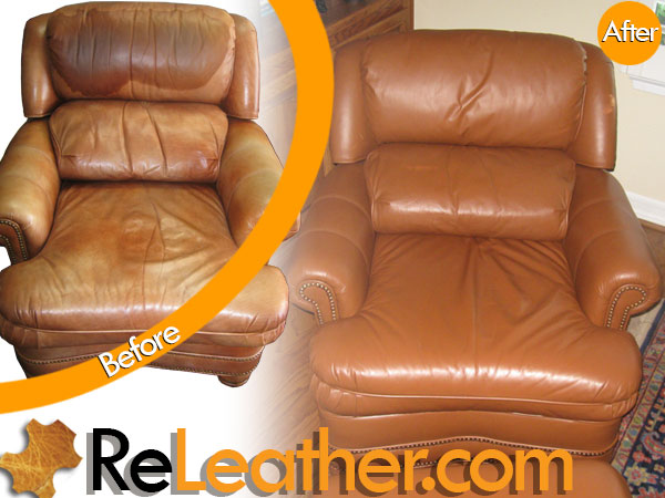 Century Furniture Recliner Chair Leather Color Restoration Recliner Chair