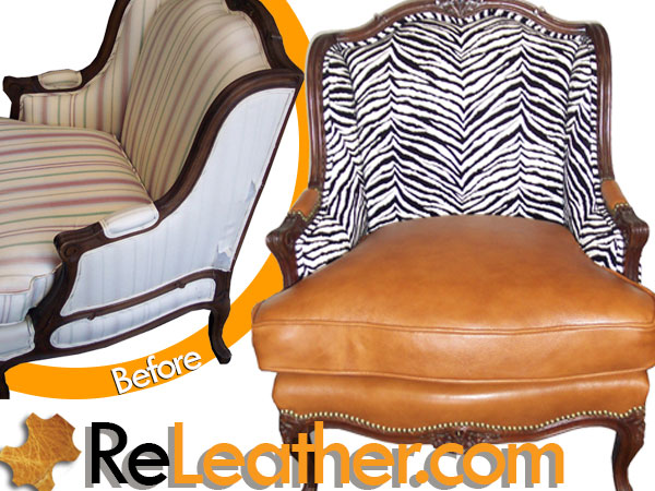 Leather Upholstery Leather and Fabric Combination