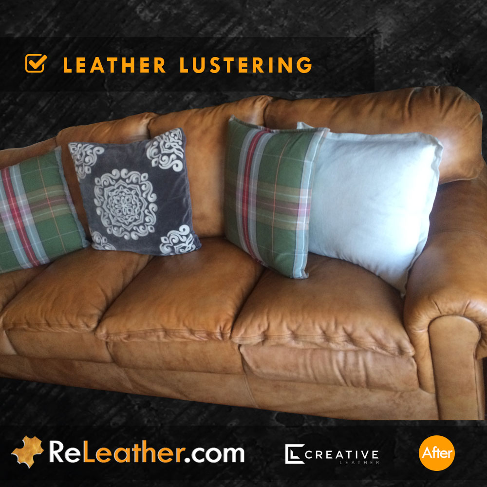 Leather Sofa Cleaning -  After