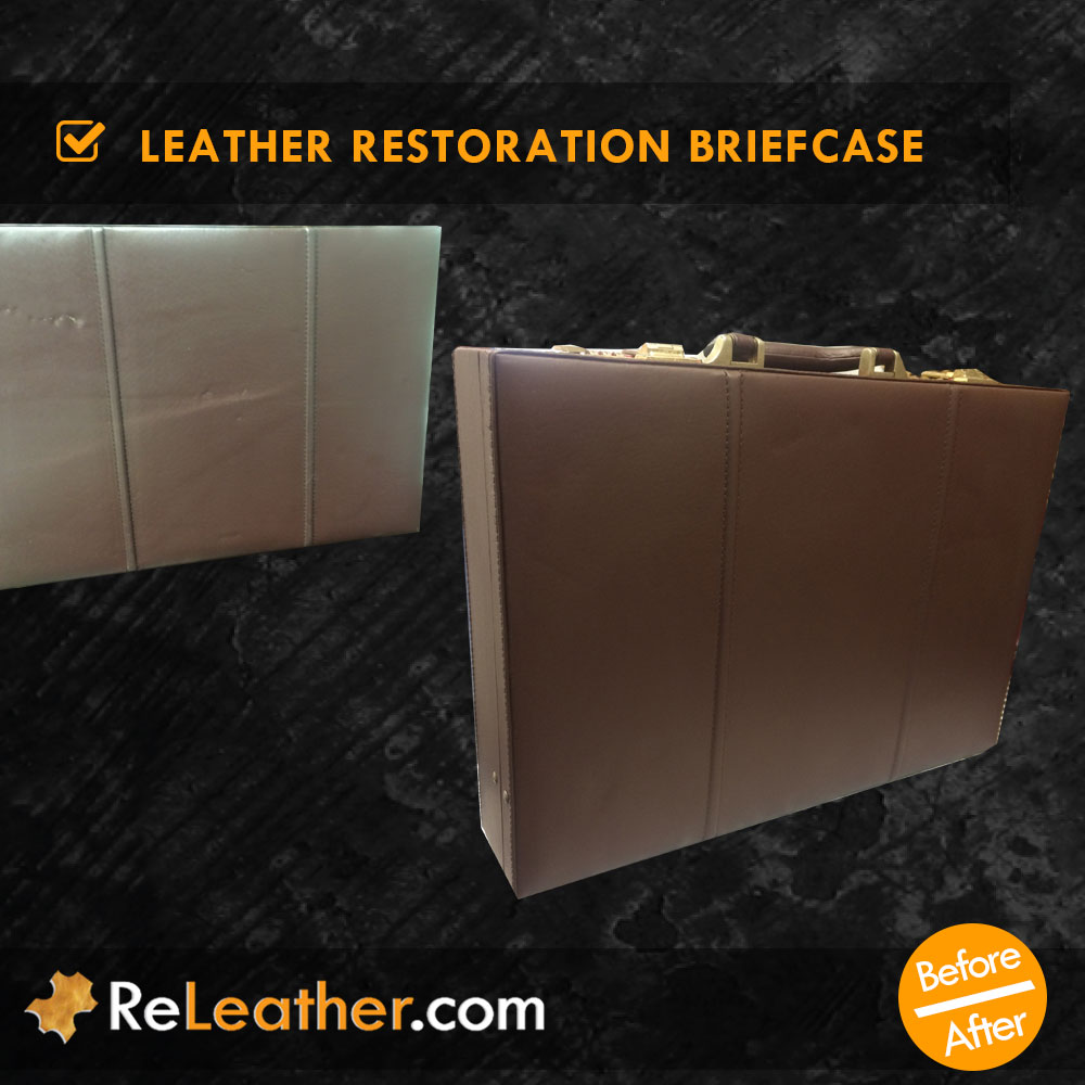 Leather Color Restoration Briefcase