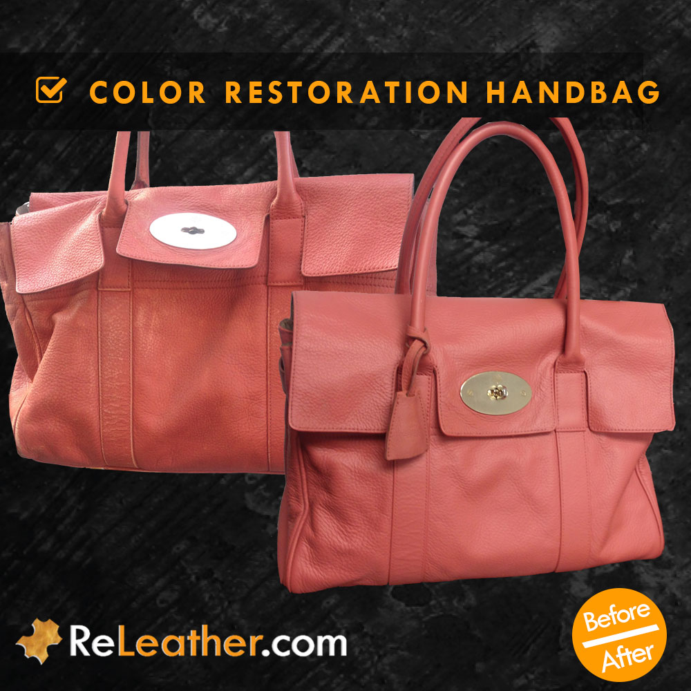 Leather Color Restoring Designer Handbag
