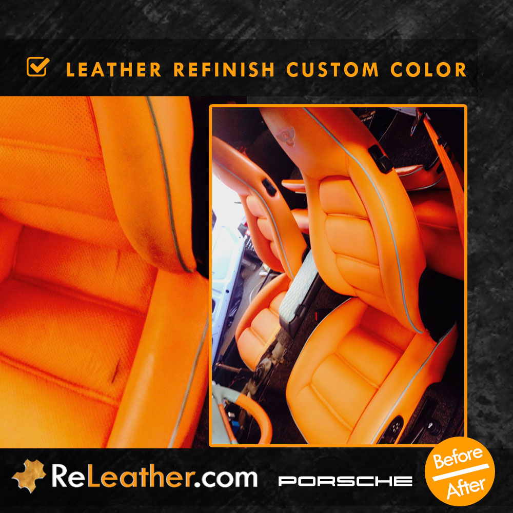 Leather Redyeing Car Seat Custom Color Porsche