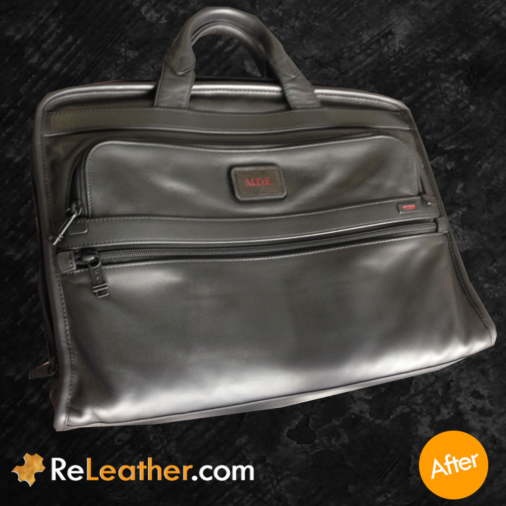 Leather Refurbishing Tumi Bag - After