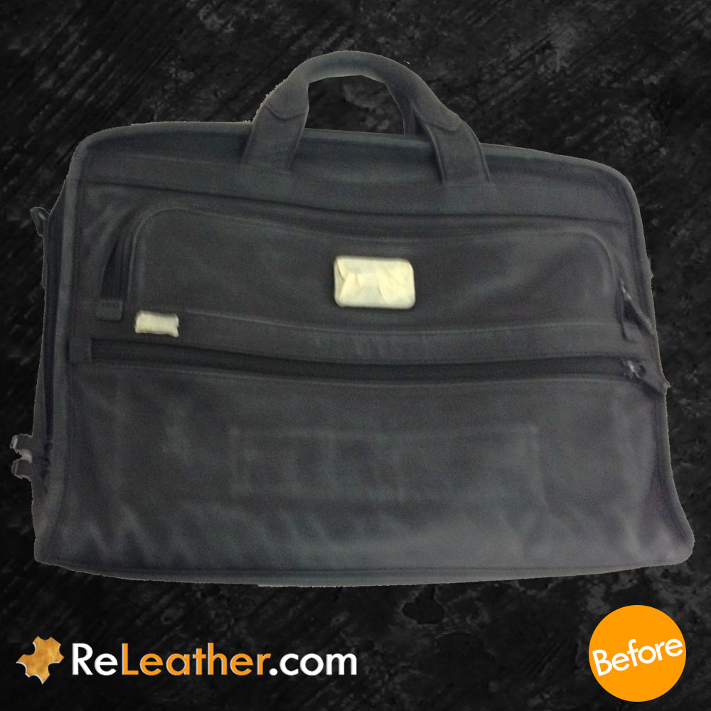 Leather Refurbishing Tumi Bag - Before