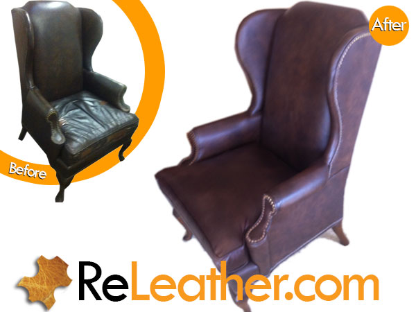 Ripped, Punctured, Worn Classic Vintage Chippendale Style Wingback Chair