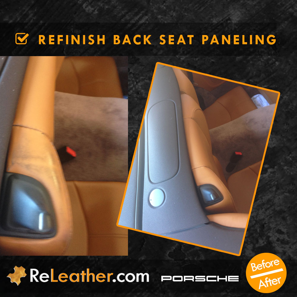 Leather Refinishing Tan Leather Back Seat Paneling Porsche Turbo