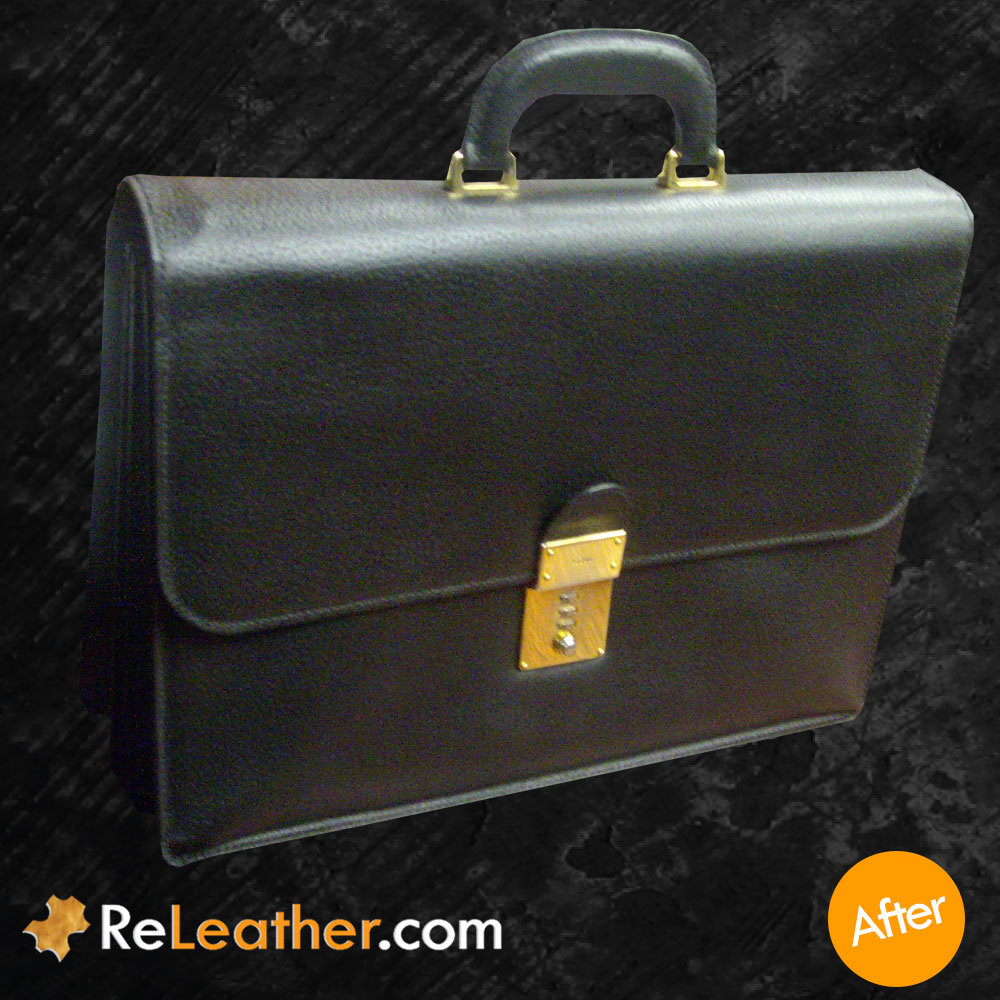 Leather Restoration Classic Briefcase - After