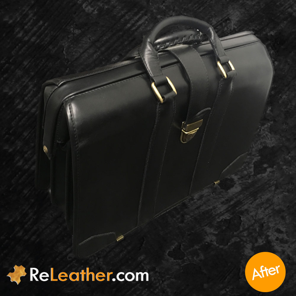 Leather Refurbishing Antique Leather Lawyer's Case - After