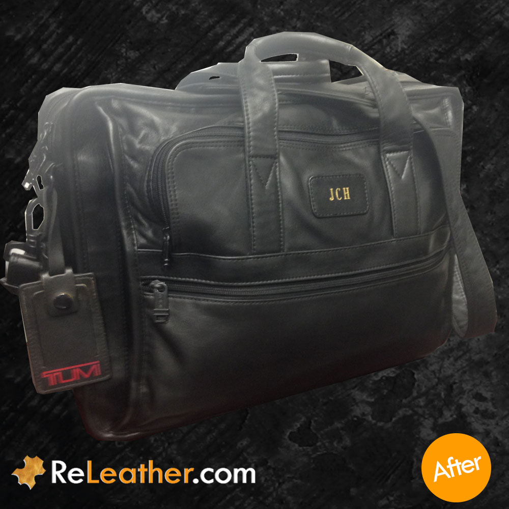Refurbish Tumi Leather Messenger Bag - After