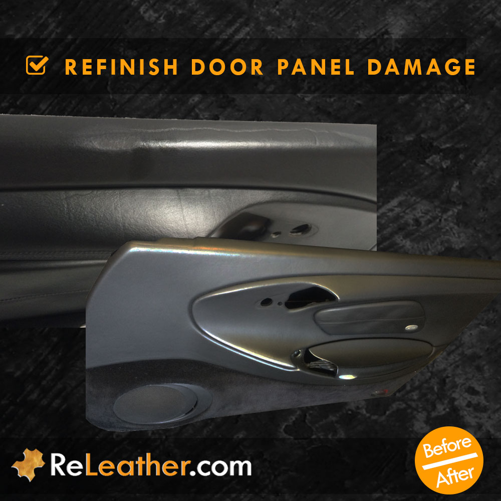 Leather Refinishing Door Panel Scratches Damage
