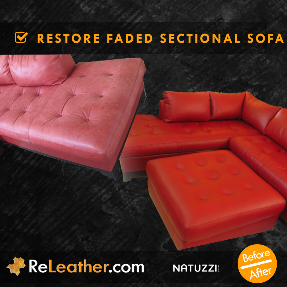 Leather Restoration Faded Sofa