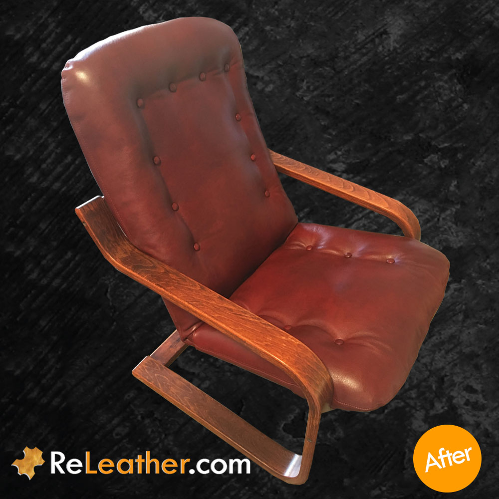 Leather Reupholstery Chair Westnofa Furniture - After