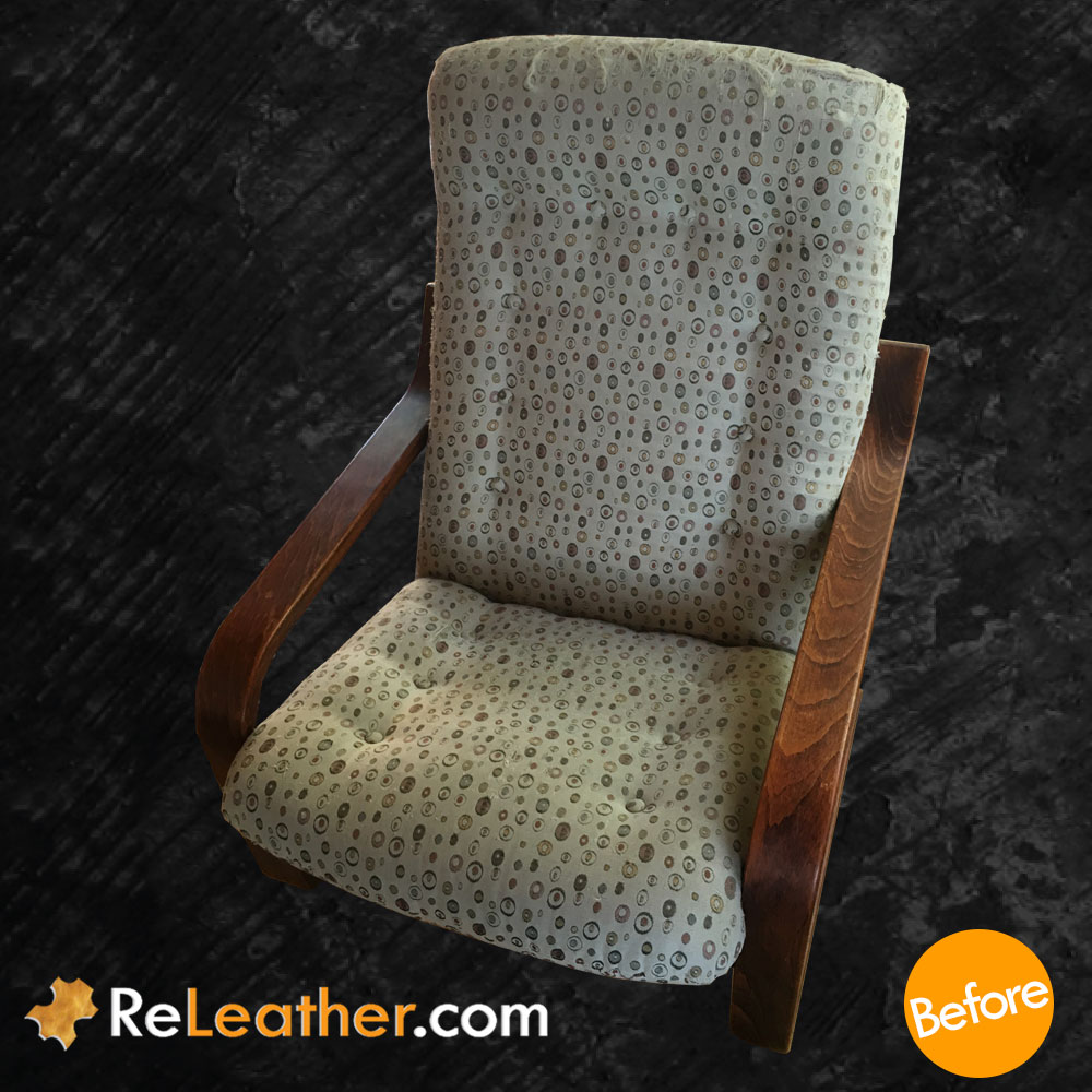 Leather Reupholstery Chair Westnofa Furniture - Before