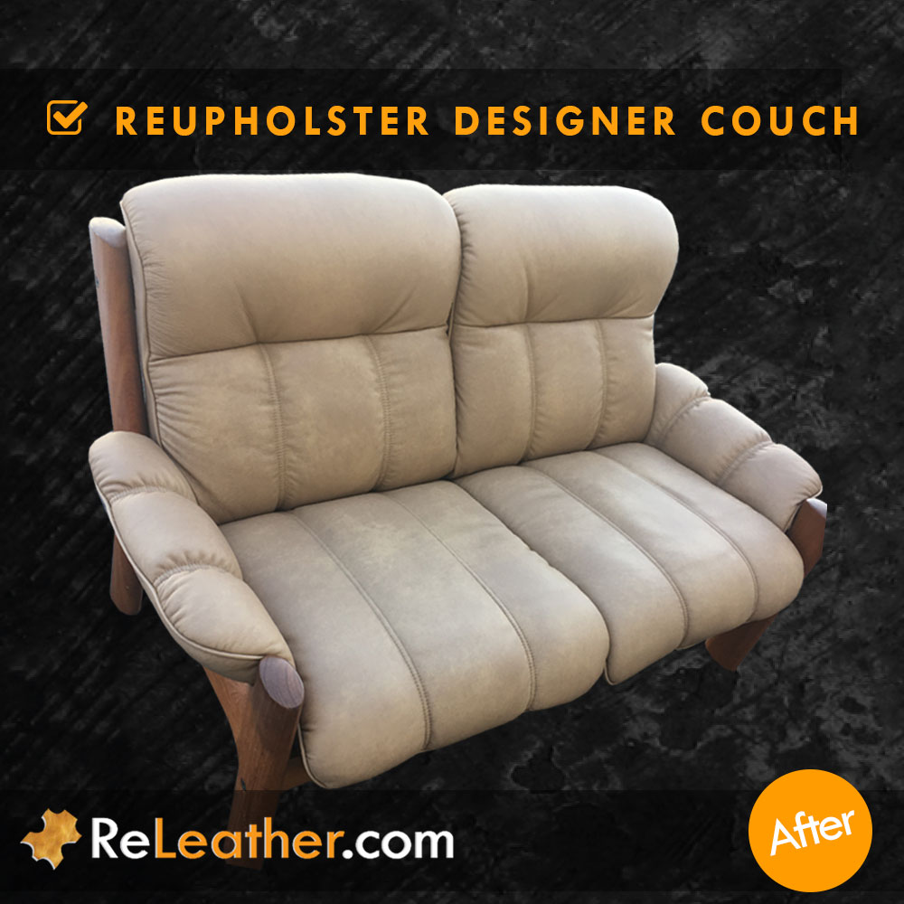 Leather Reupholstery for Scandinavian Designer Leather Couch -  After