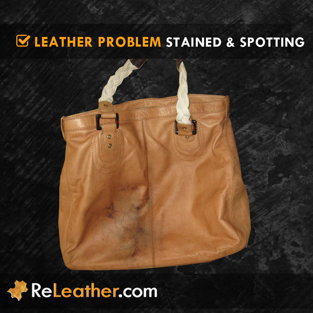 Stain Spot Leather Handbag Purse