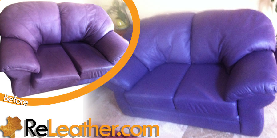 Leather Restoration And Dyeing Custom Sofa Set In Laguna Niguel Ca