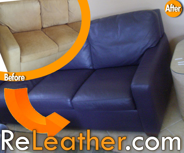 Leather Restoration And Dyeing American Living Room Sofa Set