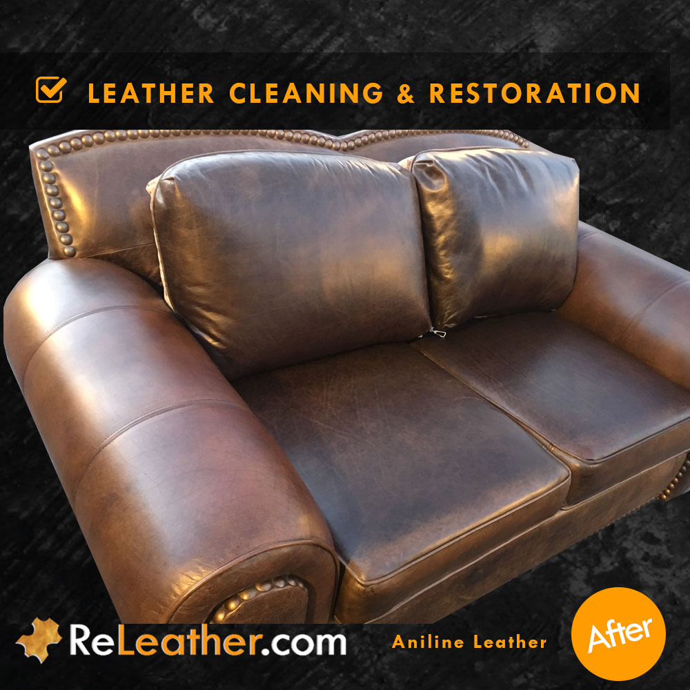 Brilliant Aniline Leather Cleaning And Restoration Furniture Andrewgaddart Wooden Chair Designs For Living Room Andrewgaddartcom