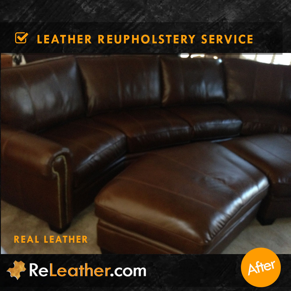 ... Bonded Leather Sofa Upholstered To Real Leather