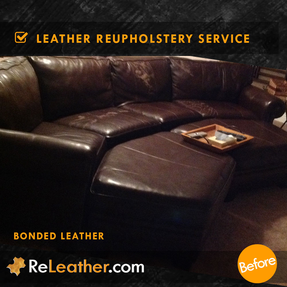 Bonded Leather Sofa Upholstered To Real Leather ...