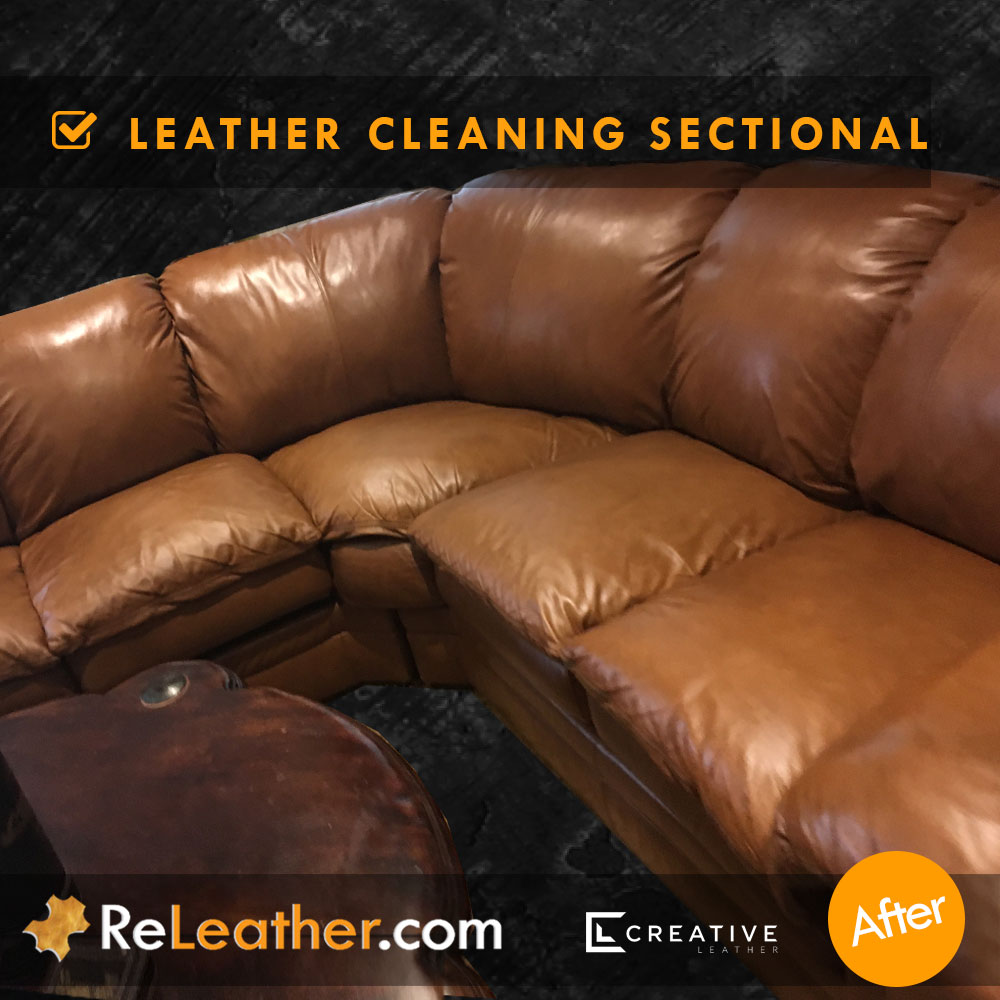 Leather Cleaning Sofa Service -  After