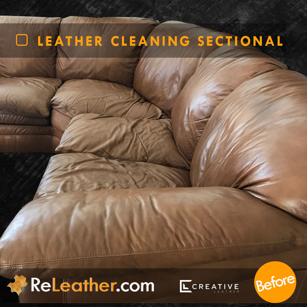 Leather Cleaning Sofa Service - Before